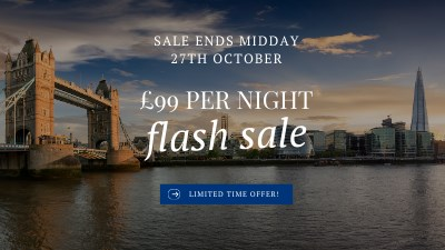 72-hour Sale from £99 per night