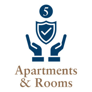 5 Apt Rooms