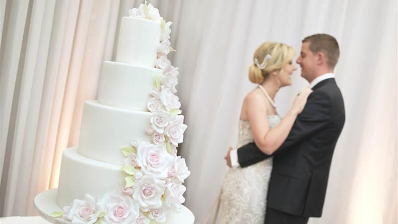 Elegant tiered Wedding Cakes at Chester Grosvenor