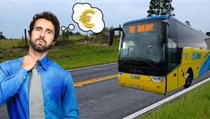 Sweaty man with bus