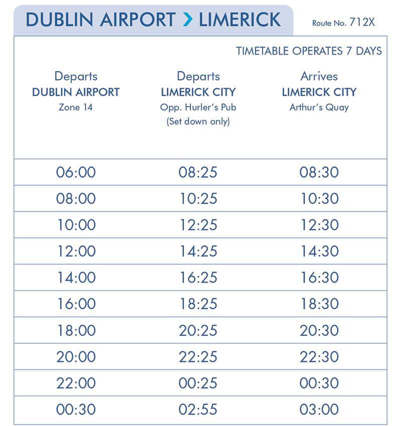 Dublin Airport- Limerick eireagle (Effective from the 12th of March)