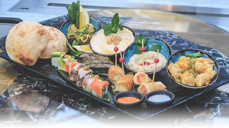 Rooftop Japanese & Lebanese Tasting Experience