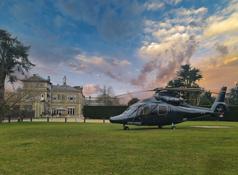 Essex Best Hotel Offer for Helicopter Scape