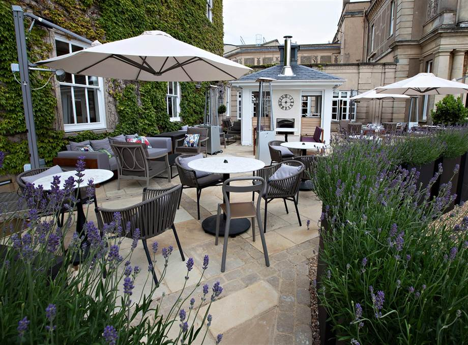OUTDOOR DINING in Essex  at Down Hall Terrace