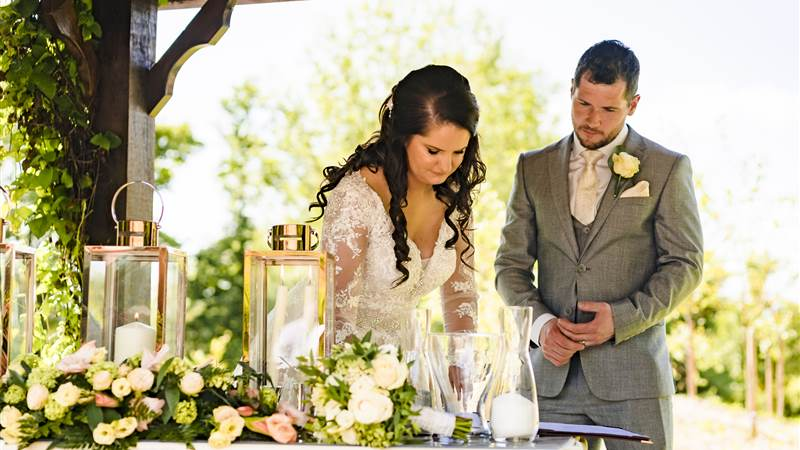 Claire and Tom's Summer Garden Wedding at Fernhill
