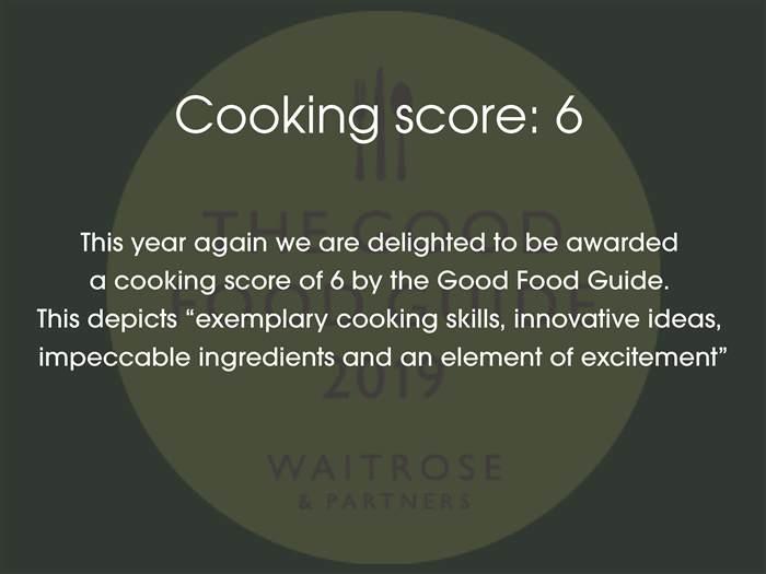 Cooking score  GFG