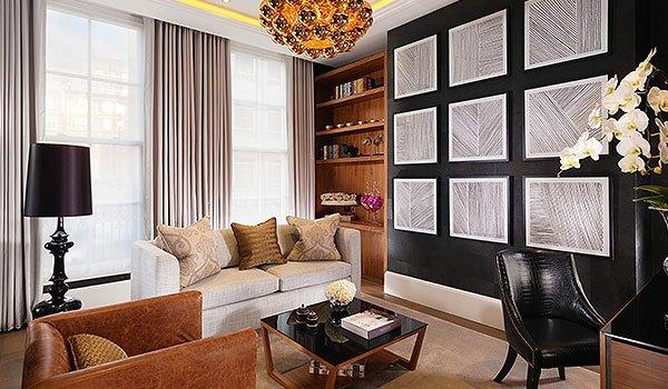 1 bed suite living area in flemings mayfair hotel in london