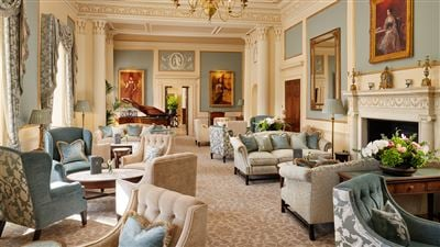 Drawing Room at Grantley Hall luxury hotel in Ripon