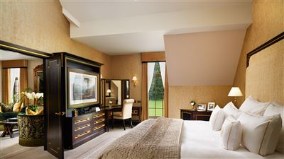 Presidential Suite Bedroom at Grantley Hall in Ripon, perfect for a Honeymoon in Yorkshire
