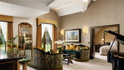 Presidential Suite Living Room at Grantley Hall luxury hotel in Yorkshire