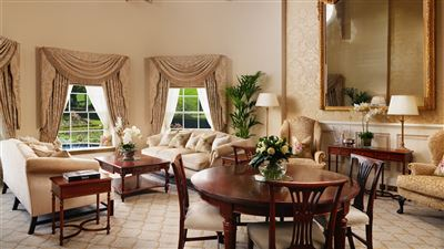 Royal Suites at Grantley Hall Hotel in Ripon with 100 sqm,robe & pillow menu and breathtaking views