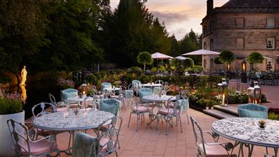 Summer Terrace at Grantley Hall 5 Star hotel