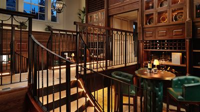 Wine Cellar at Grantley Hall luxury hotel in North Yorkshire
