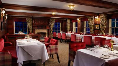 fine dining in Yorkshire in Fletchers Restaurant at Grantley Hall hotel