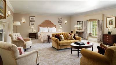 Grand Suites at Grantley Hall with 66 sqm,robe & pillow menu.They are exceptionally spacious and boast large seating areas, feature fireplaces and luxury bathrooms.