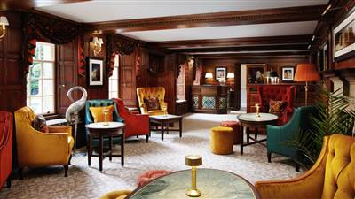Norton Bar Lounge in North Yorkshire at Grantley Hall