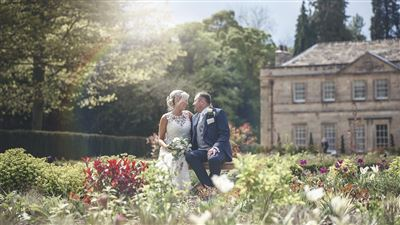 Wedding hotel in Ripon with Gardens at Grantley Hall luxury Hotel
