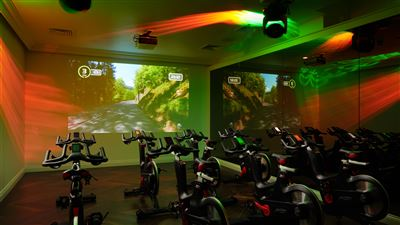 ELITE Spinning Room in a luxury gym at Grantley Hall