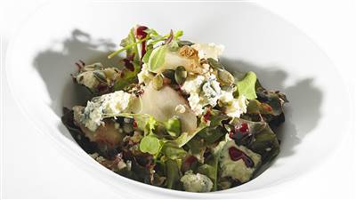 Warm Blue Cheese Salad