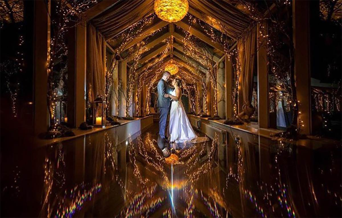 Glass Corridor at night