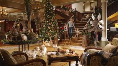 The Lobby at Christmas