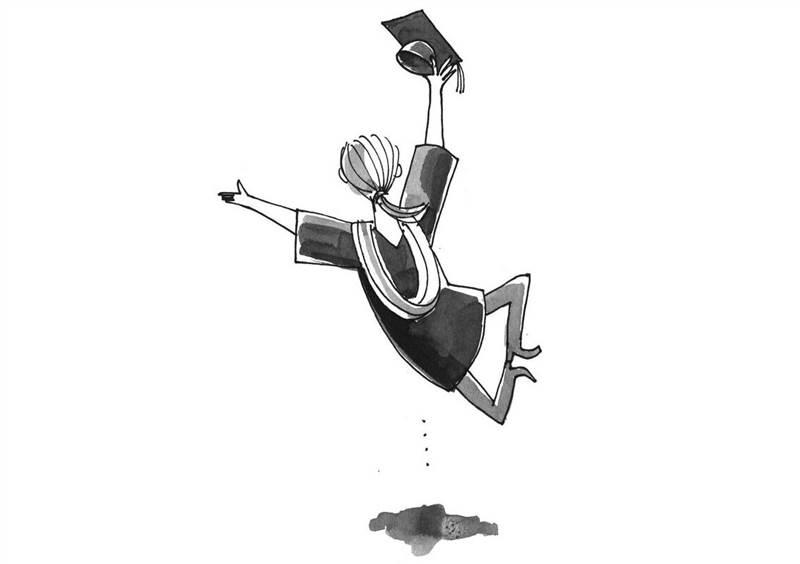 Graduate leaping landscape