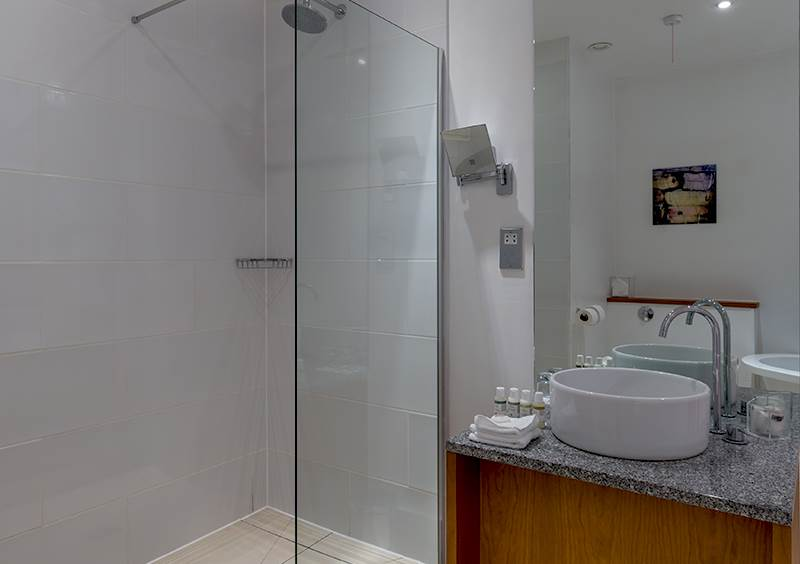 Bathroom shower at Hope Street hotel
