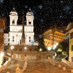 Notte con neve e stelle  tagliata