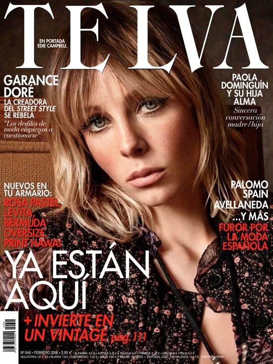 Telva Spain February 2018 Cover