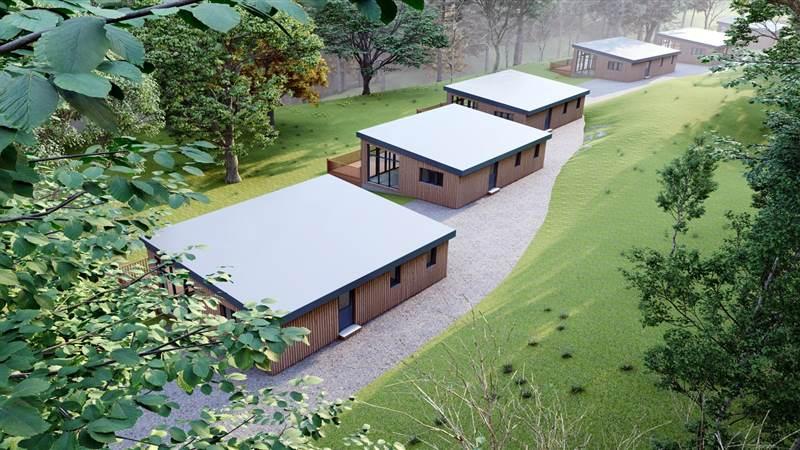 woodland lodges at killyhevlin in Enniskillen