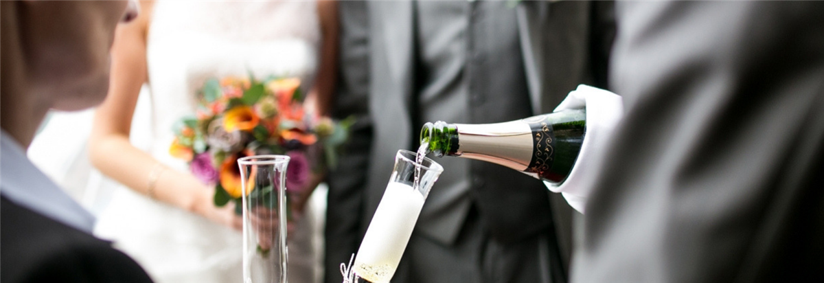 champagne pouring at our wedding venues mayo
