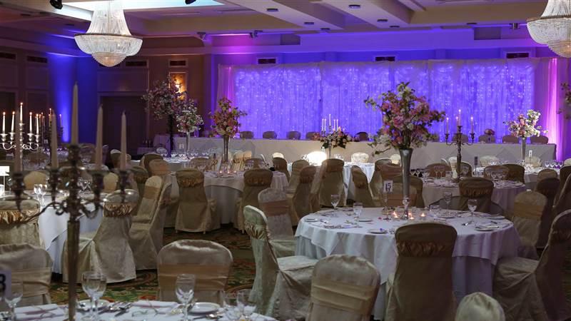 Weddings pink back Drop