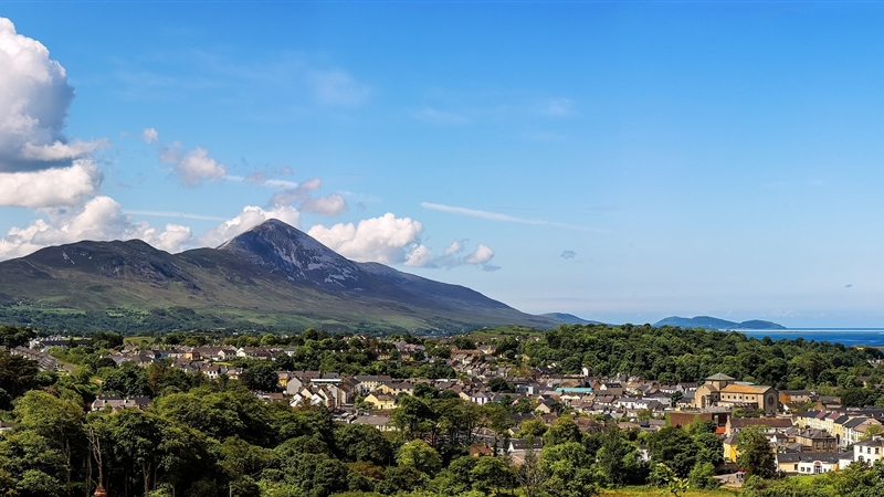 View over Clew Bay Croagh Patrick
