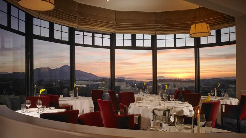 'La Fougre Restaurant at sunset