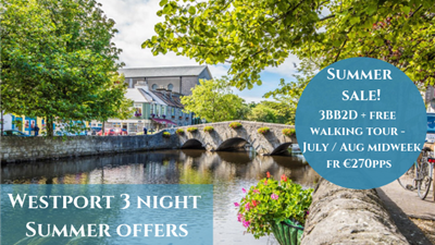 Summer midweek sale - 3 nights BB + 2 dinners + free walking tour