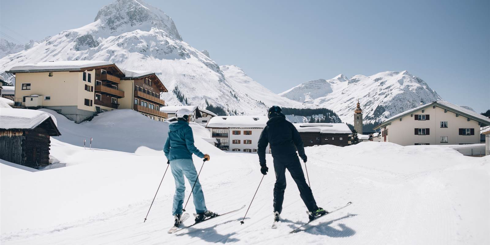 Lech Ort Skifahrer