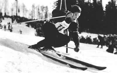 Othmar Schneider Olympic champion in Lech