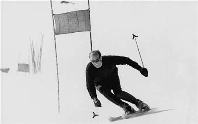 Othmar Schneider in Kristiania Lech