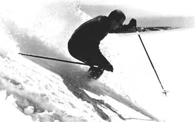 Othmar Schneider skiing in Lech
