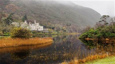 Kylemore Abbey in the Autumn