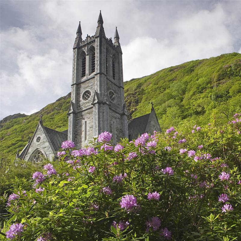 The neo - Gothic Church at Kylemore Abbey Tourist Attraction