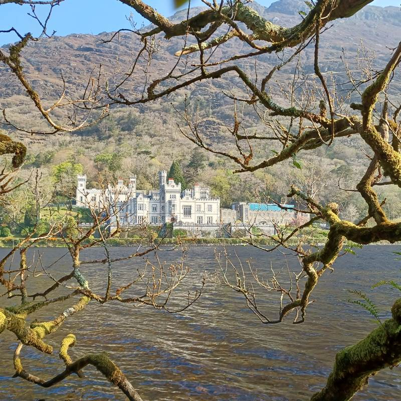 Kylemore Abbey  from lake