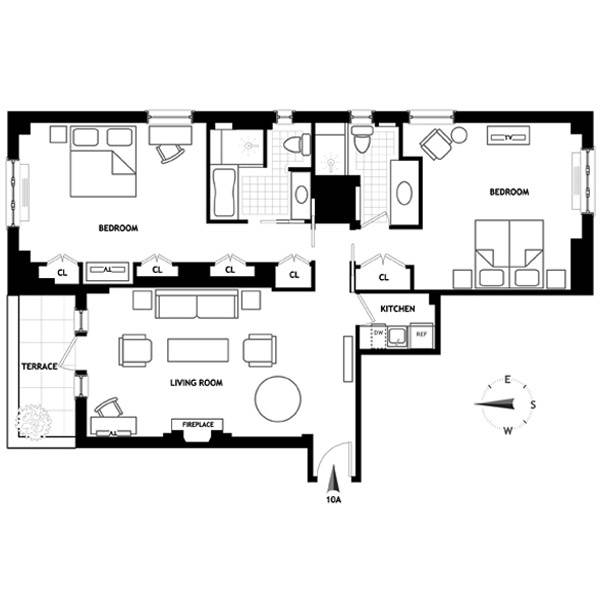 Two Bedroom Suite in New York at Lowell