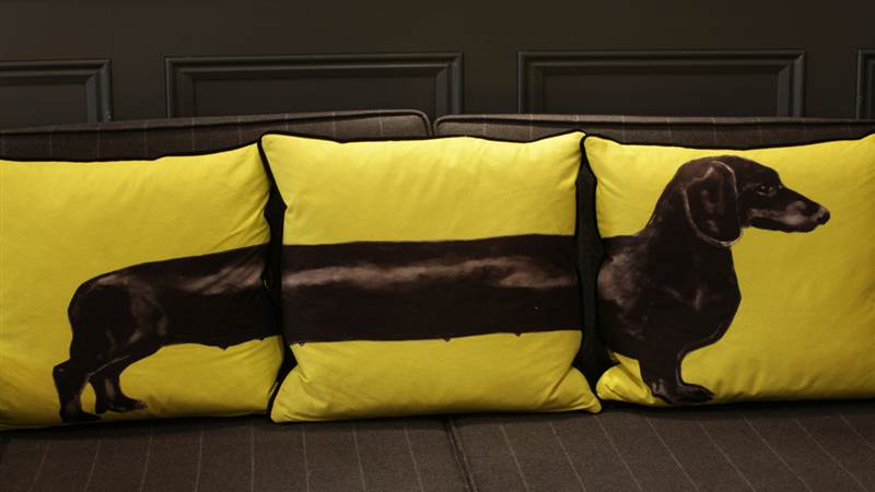 10 - green dog cushion