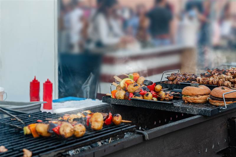 The Mandeville patio summer bbq