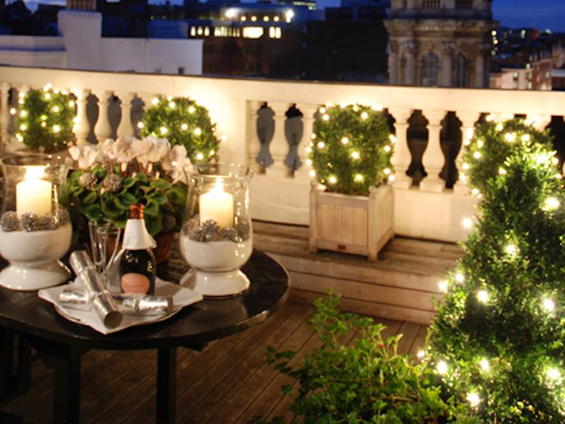 Penthouse Terrace at Christmas