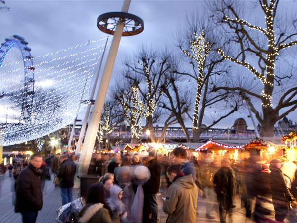winter festive market southbank