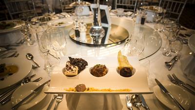 Wedding trio dessert