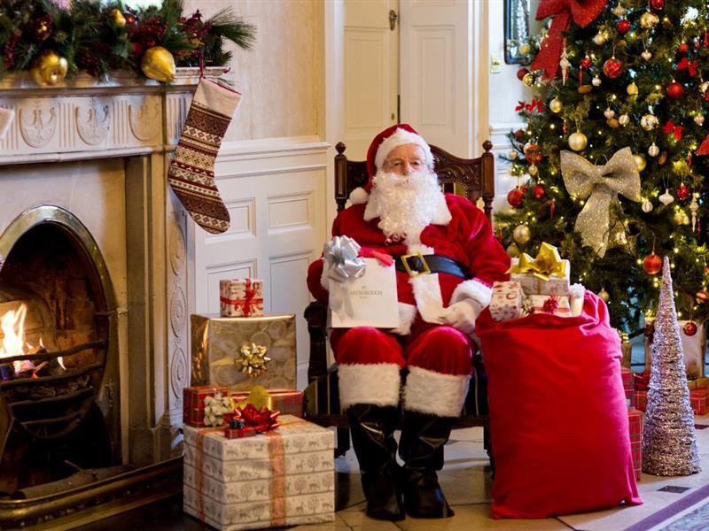 Maryborough Santa at fireplace
