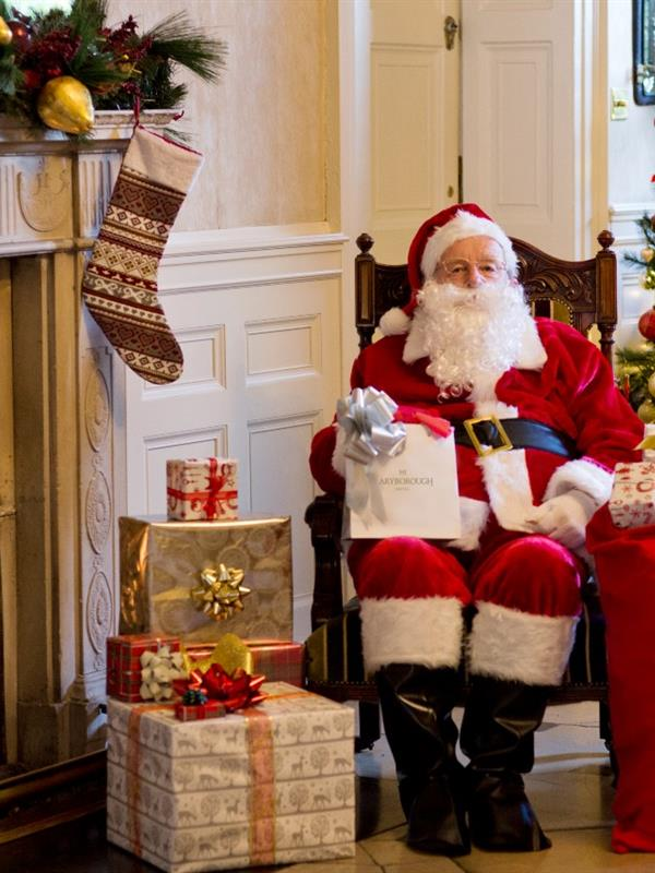 Maryborough Santa at fireplace 1